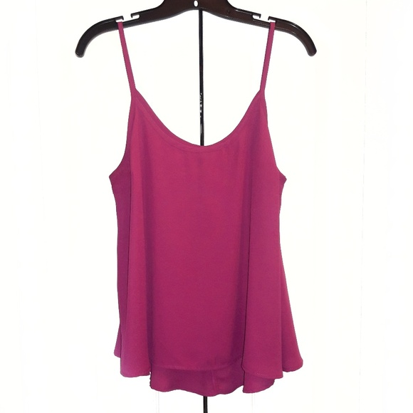 Charlotte Russe Tops - Charlotte Russe Magenta Camisole Sz L